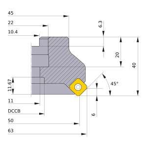 Mitsubishi-ASX445-050A05R 50mm Face Mill (ASX445-050A05R)