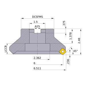 Mitsubishi-ASX445R0607E 6 Face Mill (ASX445R0607E)