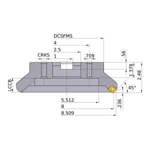 Mitsubishi-ASX445R0808M 8 Face Mill (ASX445R0808M)