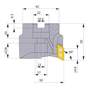 Mitsubishi-AXD4000-050A04RB 50mm Face Mill (AXD4000-050A04RB)