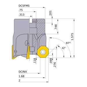 Mitsubishi-BOE4R0203 1.68 Face Mill (BOE4R0203)