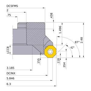 Mitsubishi-BOER0608F 5.846 Face Mill (BOER0608F)