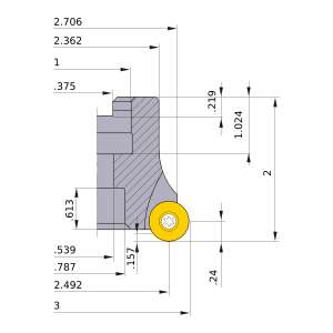 Mitsubishi-BRP6UPR0306C 2.492 Face Mill (BRP6UPR0306C)