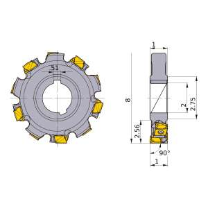 Mitsubishi-VAS400UA082010N1.00F 8 Face Mill (VAS400UA082010N1.00F)
