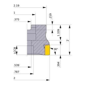 Mitsubishi-VOX400UR0205C 2 Face Mill (VOX400UR0205C)
