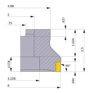Mitsubishi-VOX400UR0616F 6 Face Mill (VOX400UR0616F)