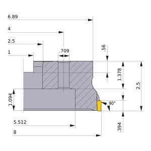 Mitsubishi-VOX400UR0812M 8 Face Mill (VOX400UR0812M)