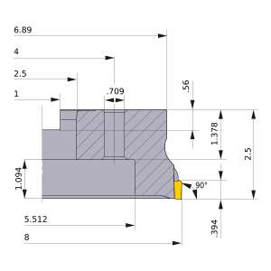 Mitsubishi-VOX400UR0820M 8 Face Mill (VOX400UR0820M)
