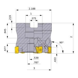 Mitsubishi-VPX300UR3.0010CA 3 Face Mill (VPX300UR3.0010CA)