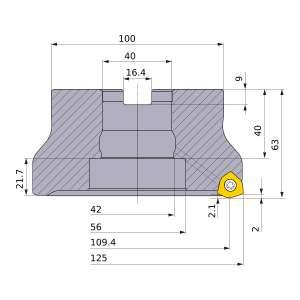 Mitsubishi-WJX14-125B09AR 109.4mm Face Mill (WJX14-125B09AR)