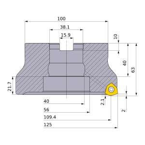 Mitsubishi-WJX14R12509EA 109.4mm Face Mill (WJX14R12509EA)