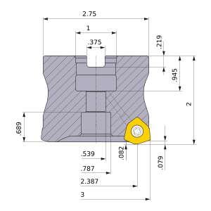 Mitsubishi-WJX14UR3.0005CA 2.387 Face Mill (WJX14UR3.0005CA)