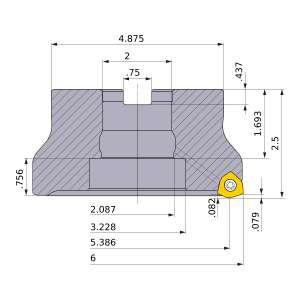 Mitsubishi-WJX14UR6.0009FA 5.386 Face Mill (WJX14UR6.0009FA)
