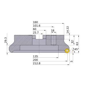 Mitsubishi-WSX445-200C20NR 200mm Face Mill (WSX445-200C20NR)