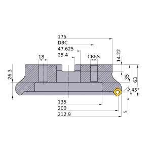 Mitsubishi-WSX445L20008KN 200mm Face Mill (WSX445L20008KN)