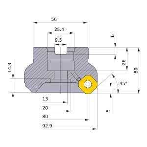 Mitsubishi-WSX445R08008CA 80mm Face Mill (WSX445R08008CA)
