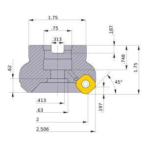 Mitsubishi-WSX445UR0205AA 2 Face Mill (WSX445UR0205AA)