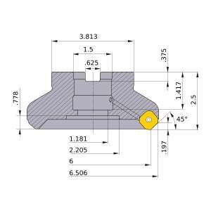 Mitsubishi-WSX445UR0616EA 6 Face Mill (WSX445UR0616EA)