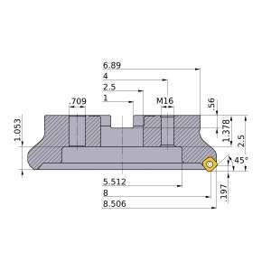 Mitsubishi-WSX445UR0808MN 8 Face Mill (WSX445UR0808MN)