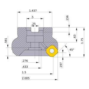 Mitsubishi-WSX445UR1503SA 1.5 Face Mill (WSX445UR1503SA)