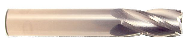 4 Flute-Standard Length-Single End Square-Uncoated 1/4 X 1/4 X 3/4 X 2-1/2