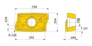 Mitsubishi-AOMT184832PEER-H.2 VP20RT Grade Strong Cutting Edge Type Carbide Insert