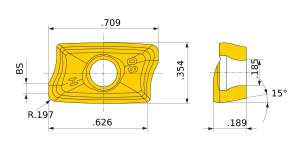 Mitsubishi-AOMT184850PEER-H.2 MP7130 Grade Strong Cutting Edge Type Carbide Insert