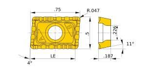 Mitsubishi-JPMX190412-WH.1 VP20RT Grade General-purpose Carbide Insert